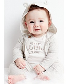 Baby Boys or Girls 3-Pc. Cotton Hooded Cardigan, Peanut Bodysuit & Pants Set