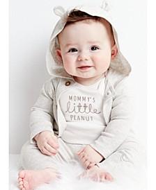 Baby Boys or Girls 3-Pc. Cotton Hooded Cardigan, Peanut Bodysuit & Pants Set
