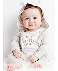 Carter's Baby Boys or Girls 3-Pc. Cotton Hooded Cardigan, Peanut Bodysuit & Pants Set