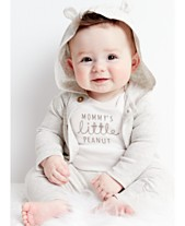 a36417b7e Carter's Baby Boys or Girls 3-Pc. Cotton Hooded Cardigan, Peanut Bodysuit &