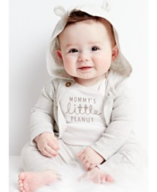 Carter's Baby Boys or Girls 3-Pc. Cotton Hooded Cardigan, Peanut Bodysuit & Pants Set