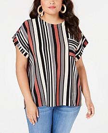 Trendy Plus Size Striped Top