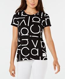 Calvin Klein Performance Logo-Print T-Shirt
