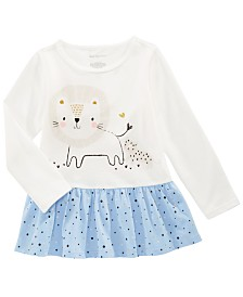 First Impressions Toddler Girls Cotton Long-Sleeve Lion Tunic, Created for Macy's