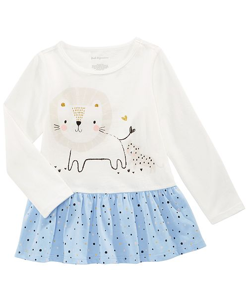 First Impressions Baby Girls Cotton Long-Sleeve Lion Tunic, Created for Macy's