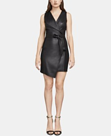 BCBGMAXAZRIA Layla Faux-Leather Sheath Dress