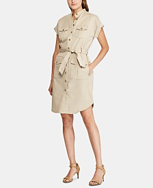 Lauren Ralph Lauren Petite Short-Sleeve Shirtdress