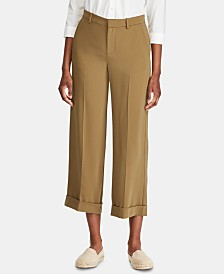 Lauren Ralph Lauren Petite Twill Wide-Leg Pants