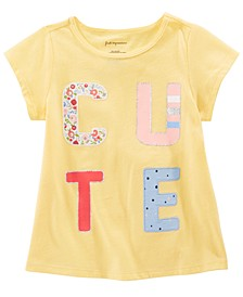 Toddler Girls Cotton Cute T-Shirt, Created for Macy's