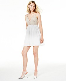 Juniors' Beaded Fit & Flare Dress, Created for Macy's