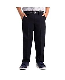 Little Boys Premium No Iron Khaki, Reg Fit, Flat Front Pant