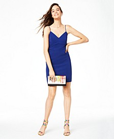 Juniors' Bow-Back Bodycon Dress