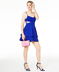 Juniors' Mesh-Inset Fit & Flare Dress, Created for Macy's