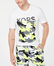 Michael Kors Men's Camo Block Logo Graphic T-Shirt