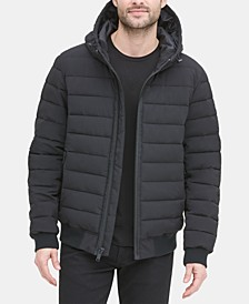 Men's Quilted Hooded Bomber Jacket