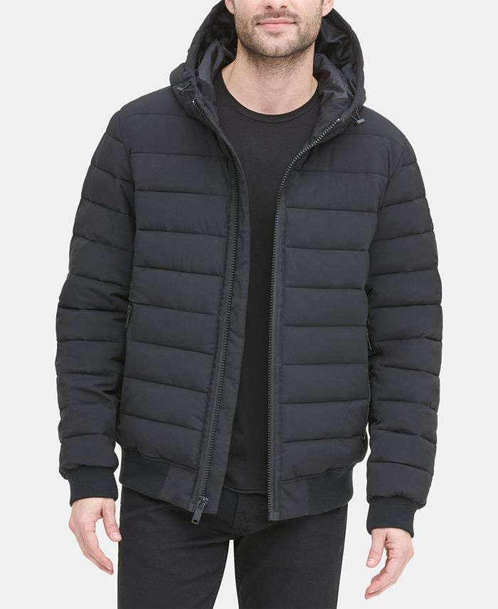 DKNY - Men's Quilted Hooded Core Bomber Jacket