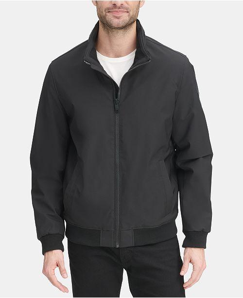 DKNY Men's All Man's Micro Fiber Bomber Jacket