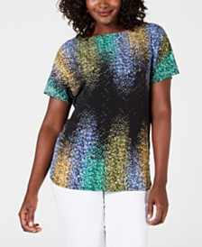 JM Collection Embellished Dolman-Sleeve Top, Created for Macy's
