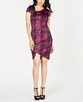 e58b22ac43faff Thalia Sodi Printed Zipper-Trim Sheath Dress, Created for Macy's