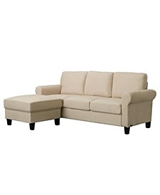 "Sienna 76"" Sofa and Ottoman Set, Quick Ship"