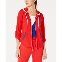 Deals on Tommy Hilfiger Sport Contrast Trim Roll-Tab Sleeve Hoodie