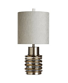 Eton 27in Transitional Metal and Glass Table Lamp