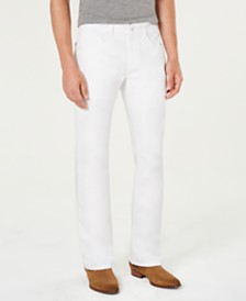 I.N.C. Men's White Bootcut Jeans, Created for Macy's