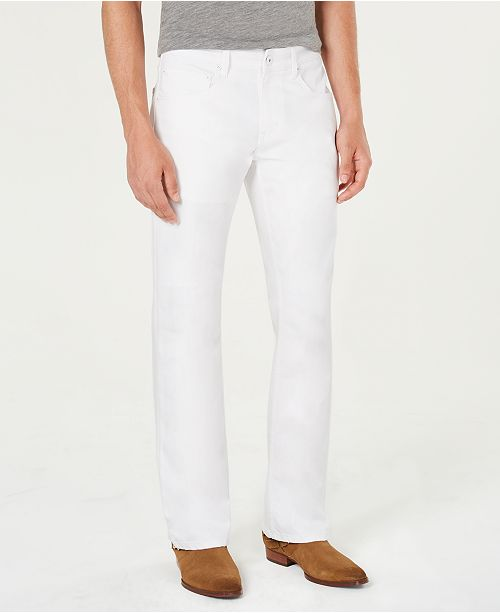 INC International Concepts INC Men's White Bootcut Jeans, Created for Macy's
