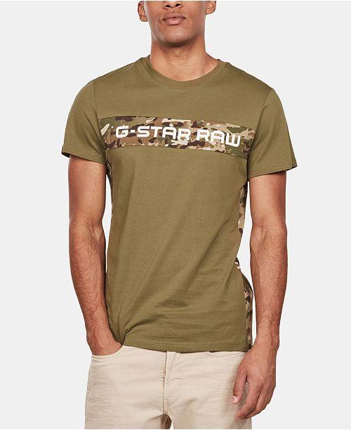 G-Star Raw Men's Camo-Logo T-Shirt, Created for Macy's