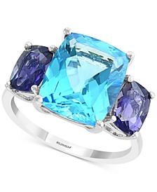 EFFY® Blue Topaz (7-3/4 ct. t.w.) & Iolite (3/4 ct. t.w.) Ring in 14k White Gold