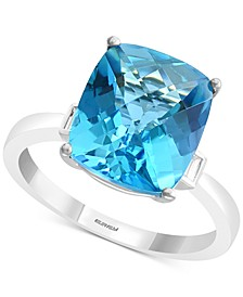 EFFY® Blue Topaz (6-7/8 ct. t.w.) & Diamond Accent Ring in 14k White Gold