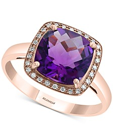 EFFY® Amethyst (2-7/8 ct. t.w.) & Diamond Accent Ring in 14k Rose Gold