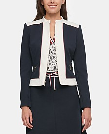 Tommy Hilfiger Zippered Contrast-Border Jacket