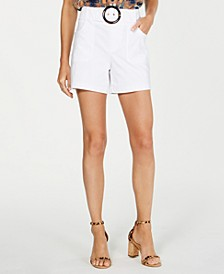 INC Belted Shorts, Created for Macy's