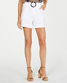 I.N.C. Belted Shorts, Created for Macy's