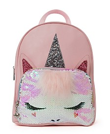 OMG! Accessories One Size Flip Sequin Unicorn Mini Backpack