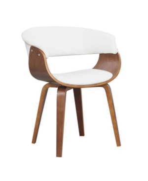 Ac Pacific Mid-century Dining Chair In White