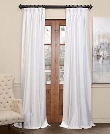 "Exclusive Fabrics & Furnishings Blackout Vintage Textured Pleated 25"" x 108"" Curtain Panel"