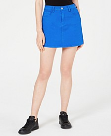 Juniors' Color-Wash Mini Skirt