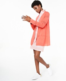 Charter Club 100% Cashmere Pointelle Cardigan, Created for Macy's
