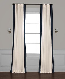 "Exclusive Fabrics & Furnishings Vertical Color block Panama 50"" x 108"" Curtain Panel"