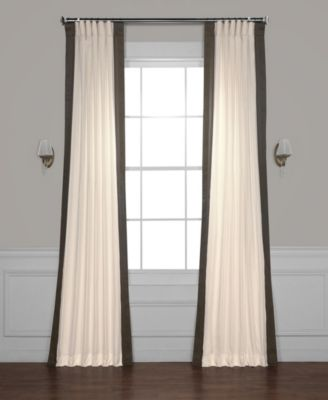 "Exclusive Fabrics & Furnishings Vertical Color block Panama 50"" x 84"" Curtain Panel"