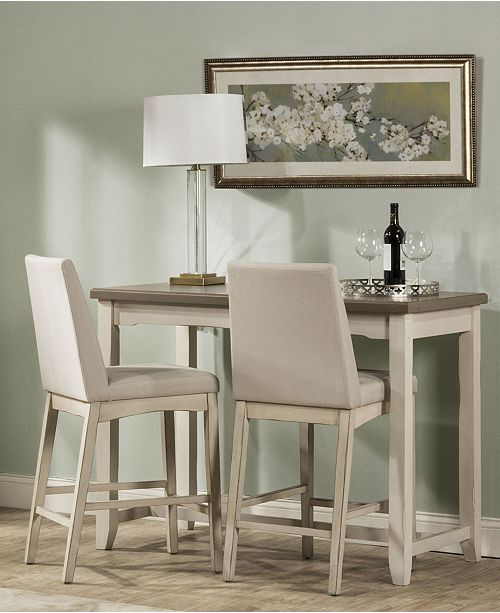 Hillsdale Clarion 3-Piece Counter Height Side Dining Set with Parson Stools