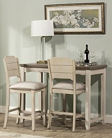 Clarion 3-Piece Counter Height Side Dining Set with Open Back Stools