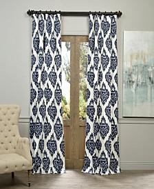 "Exclusive Fabrics & Furnishings Ikat Printed Cotton 50"" x 120"" Curtain Panel"
