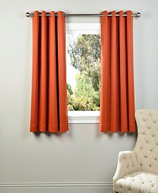 "Exclusive Fabrics & Furnishings Grommet Blackout 50"" x 63"" Curtain Panel"