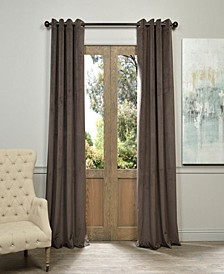 "Signature Grommet Blackout Velvet 50"" x 84"" Curtain Panel"