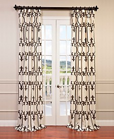 "Exclusive Fabrics & Furnishings Royal Gate Flocked 50"" x 120"" Curtain Panel"