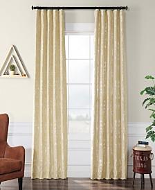 "Exclusive Fabrics & Furnishings Gwendolyn Flocked 50"" x 84"" Curtain Panel"