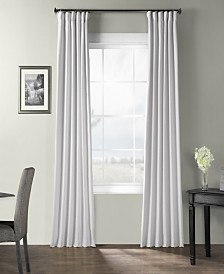 "Exclusive Fabrics & Furnishings Bark Weave Solid Cotton 50"" x 120"" Curtain Panel"